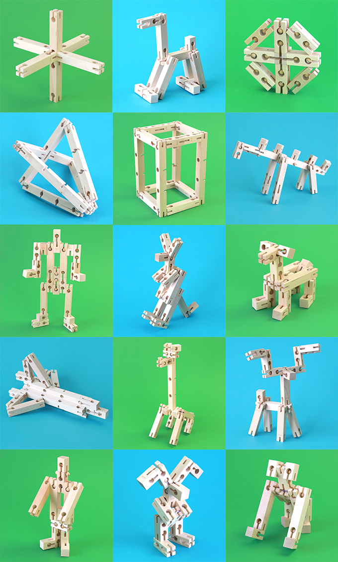 Using only one Explorer Set, you can build any object or character seen above. Just imagine what you can do with two or more sets!