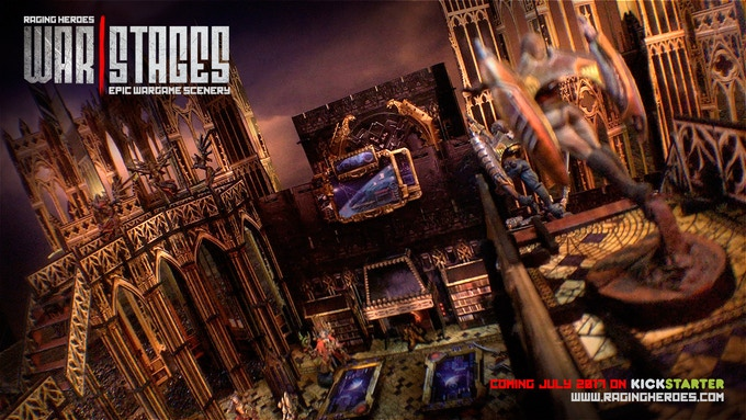 Combine the Cathedral Stages with the Gothic Daedalus extension and get even more multi-level/tri-dimensional gaming options