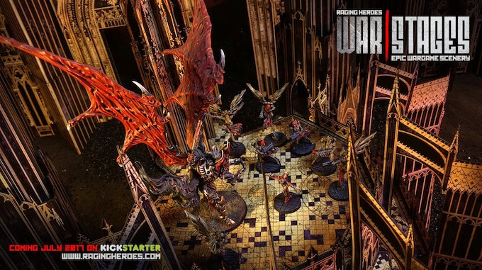 Our Kahn-Urkan model is a very heavy large demon made mostly in metal perched on this 20cm high platform without even making it bend