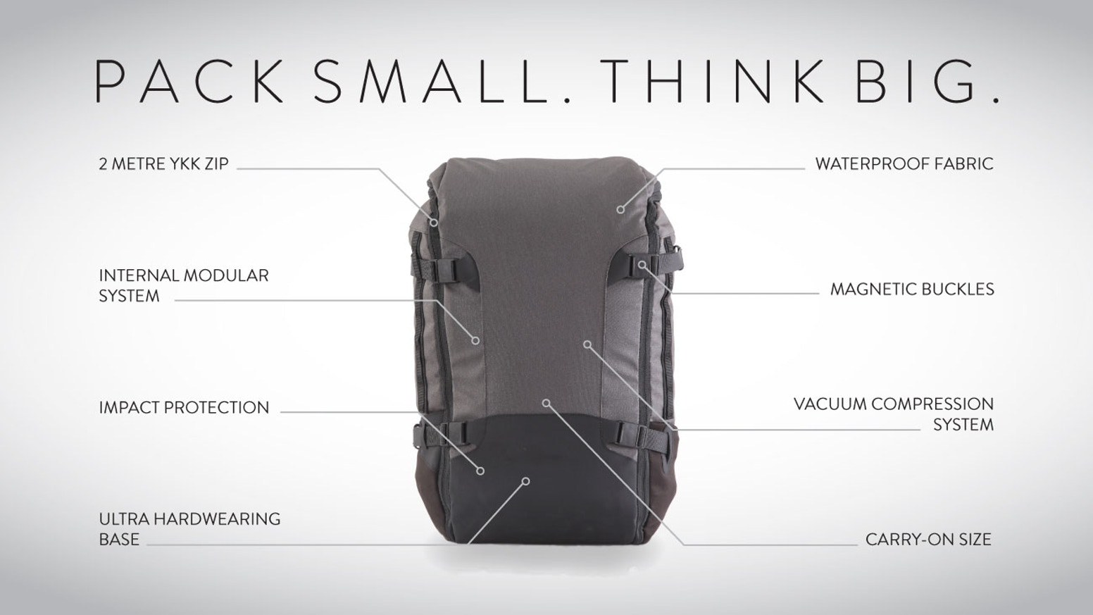 GoBag | The Vacuum Compressible Carry-on Backpack