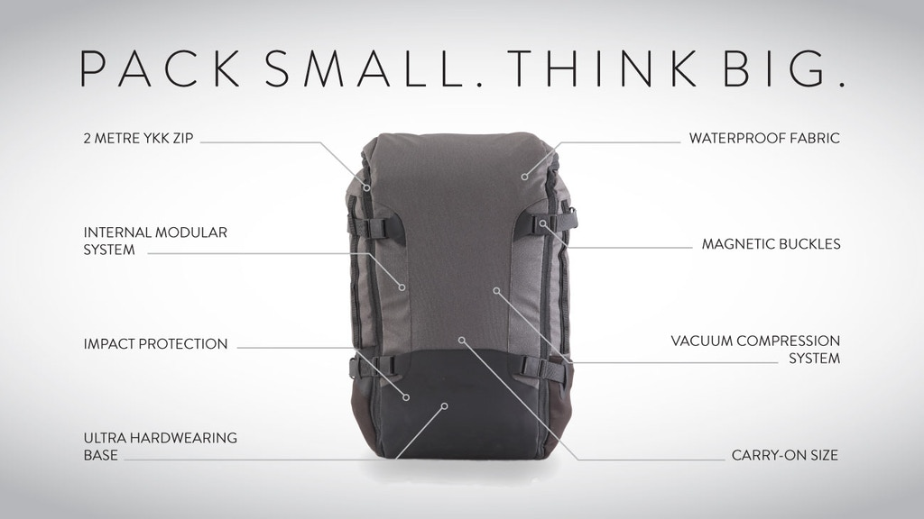 GoBag | The Vacuum Compressible Carry-on Backpack project video thumbnail