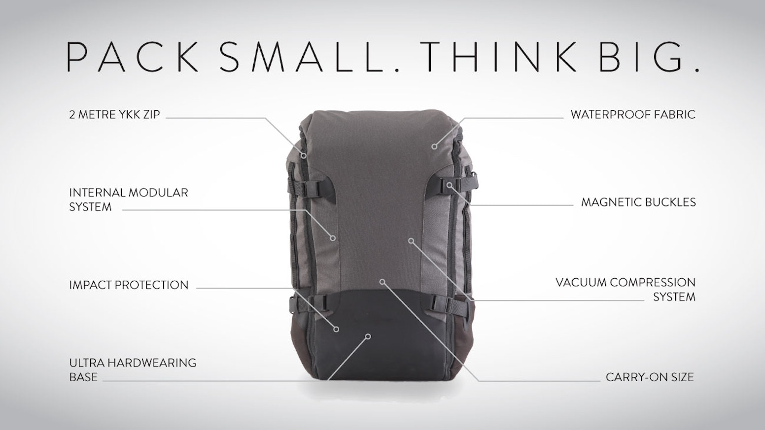 We believe you don't need bulky luggage to travel the world.  So we designed the ultimate carry-on backpack.