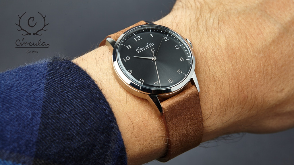 CIRCULA affordable Swiss Made watch in vintage-design project video thumbnail