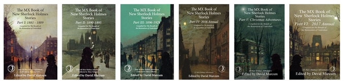 Volumes 1-6 of The MX Book of New Sherlock Holmes Stories