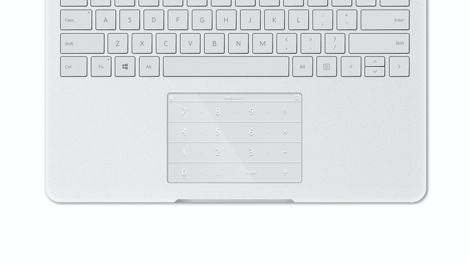 Nums for Surface Book (White Ink)
