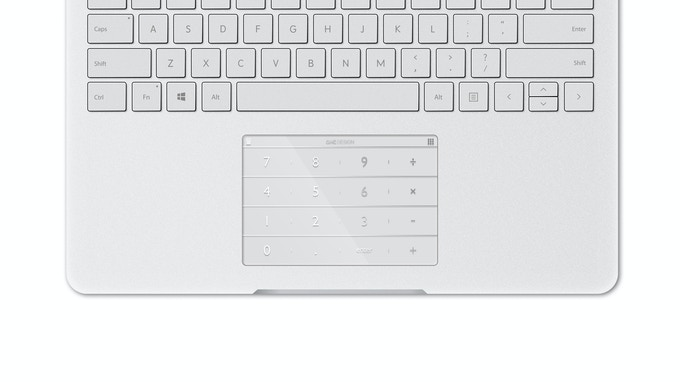 Nums for Surface Book (Silver Metallic Ink)