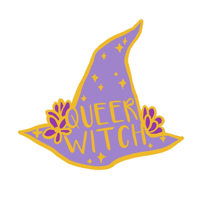 Queer Witch Pin design ~