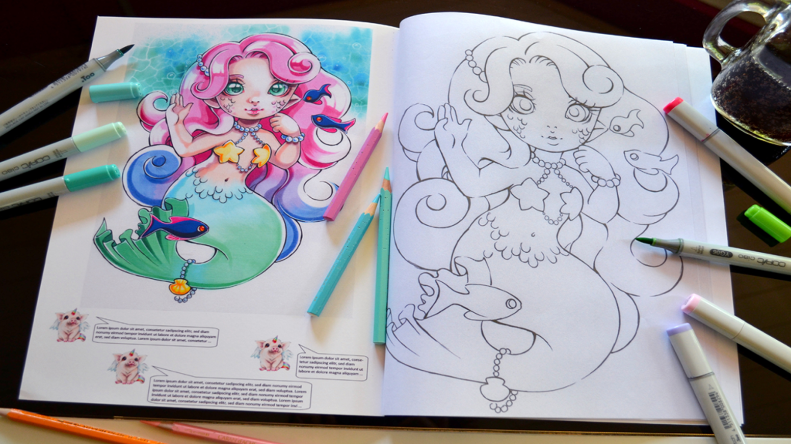 Lighane S Coloring Book Mythical Creatures By Lisa Saukel