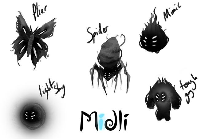 Forgotten Shadows Concept Sketches