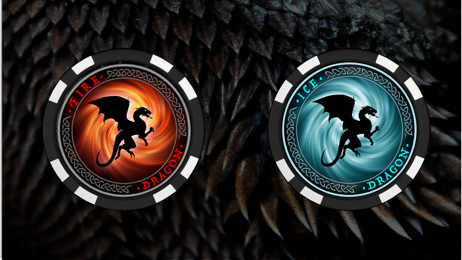 Ice And Fire Dragons Poker Chip Collectable