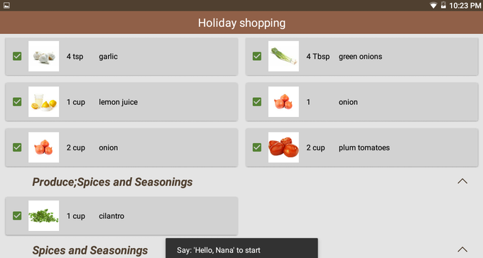 Holiday Grocery Shopping made easy, simple and smart.