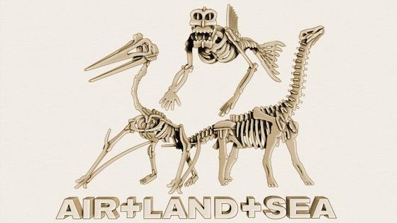 Brontosaurus Quetzalcoatlus and Fiji Mermaid Skeleton Kits