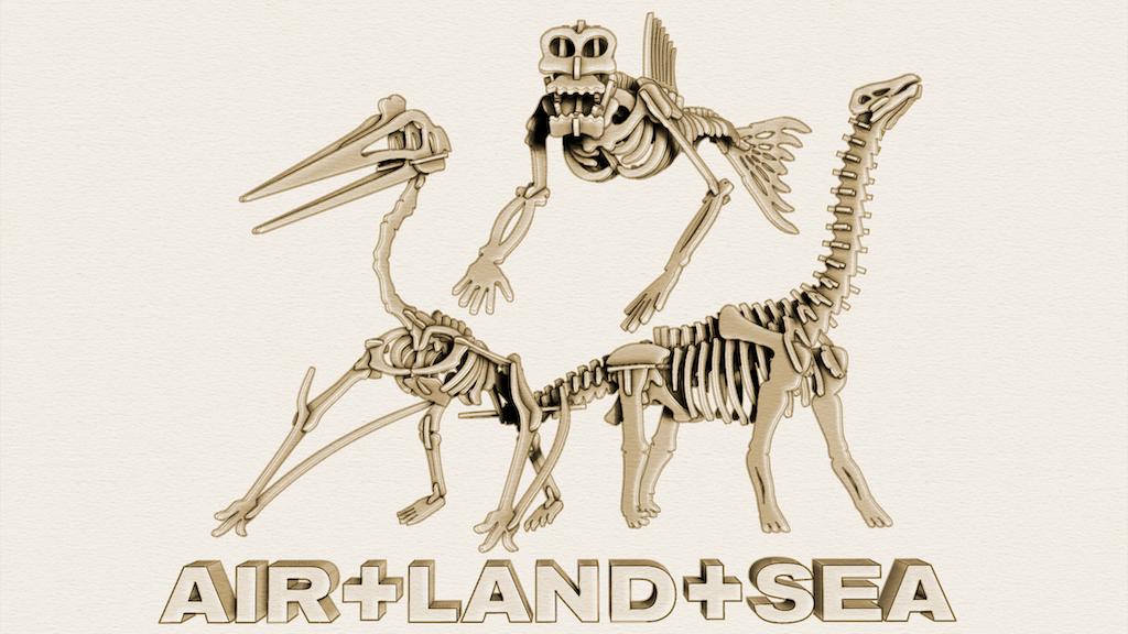 Brontosaurus Quetzalcoatlus and Fiji Mermaid Skeleton Kits project video thumbnail