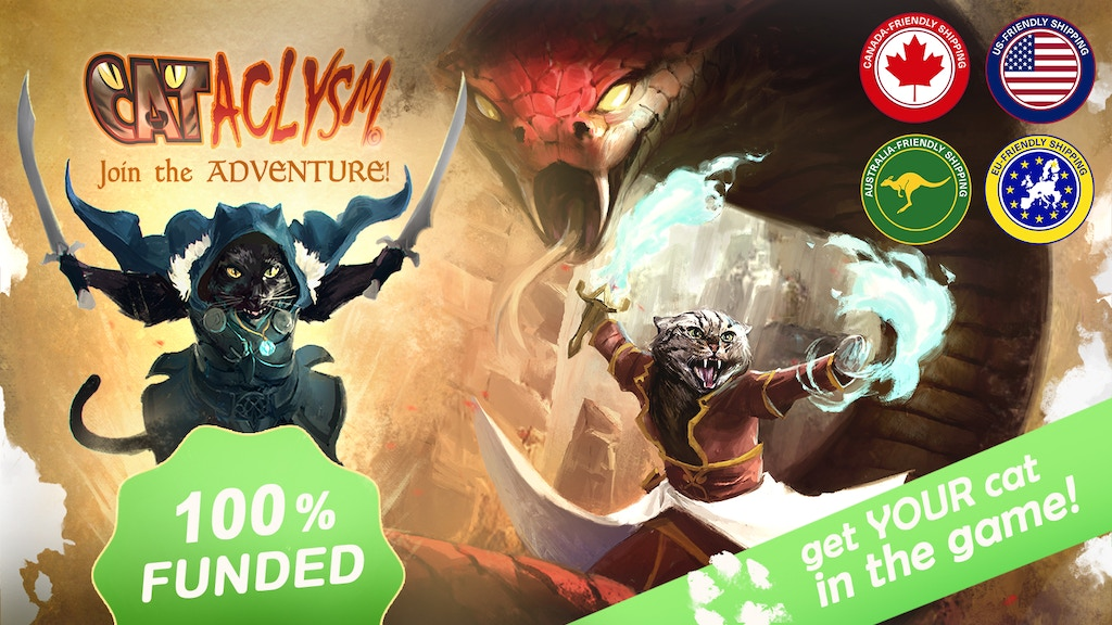 This is an RPG for both cat lovers and roleplaying enthusiasts alike. CATaclysm is purrfect for players of all levels and ages!
