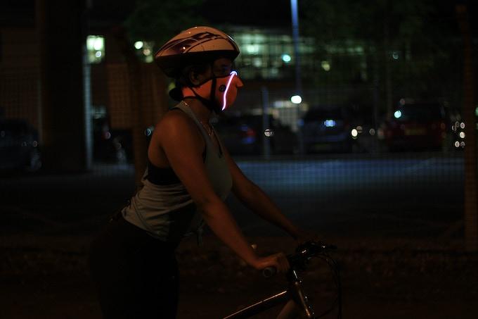 The E-Mask at night