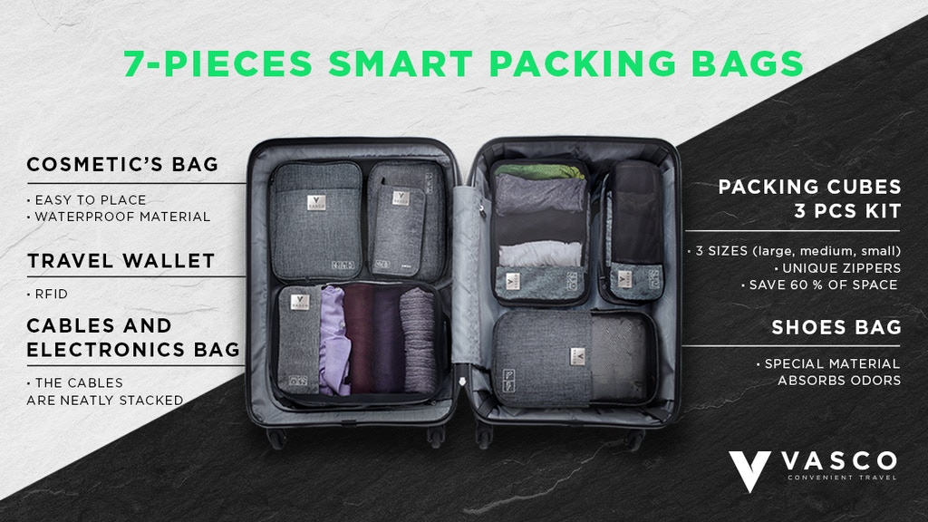 VASCO - SMART PACKING CUBES AND BAGS project video thumbnail
