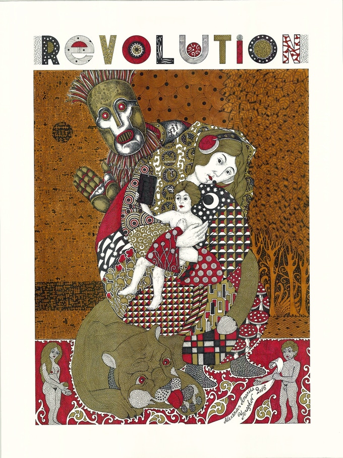 REVOLUTION series print by Amanita