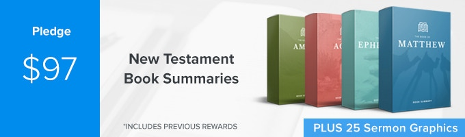 Get Bible book summaries of EVERY New Testament book of the Bible, early access to your one-year Sermonary membership PLUS 25 Sermon Graphics from Ministry Pass. (Includes Previous Rewards)