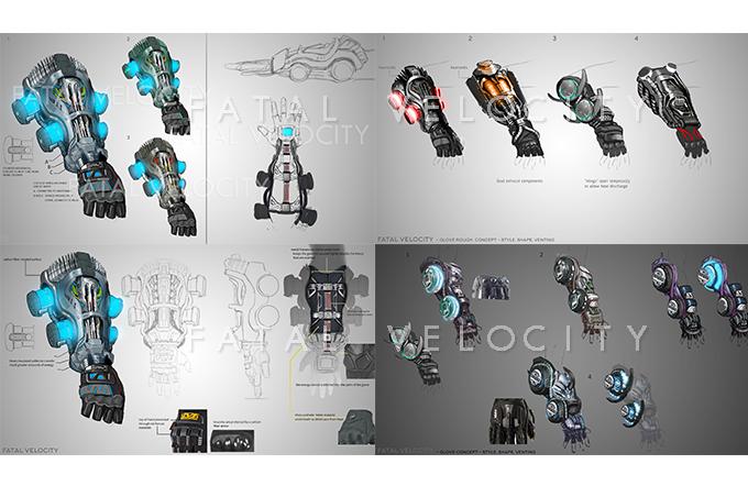 Various Tech Gauntlet Concepts