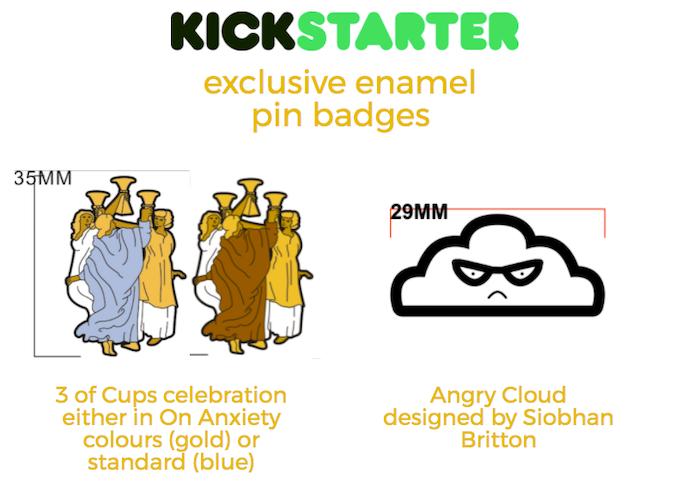 Kickstarter exclusive enamel pin badges