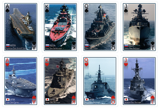 Face Cards 3rd and 4th (Russia & Japan)