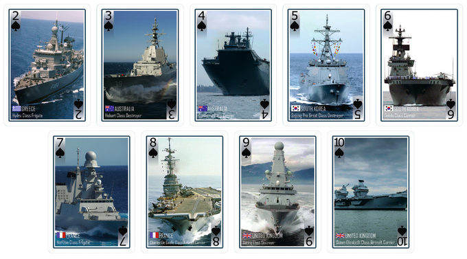 Spades - UK, France, South Korea, Australia and Greece