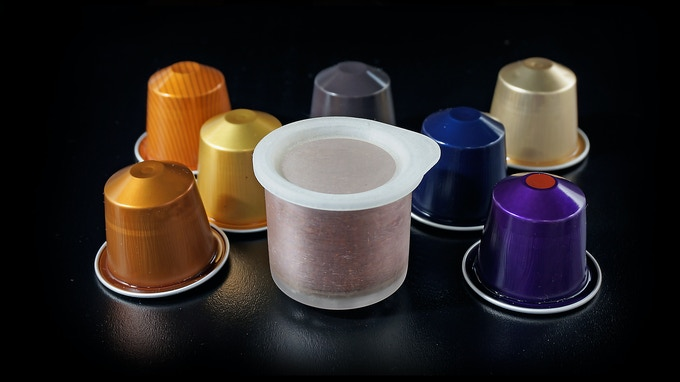 "Compatible with Nespresso OriginalLine capsules and Simpresso reusable ""Smart Capsule""."