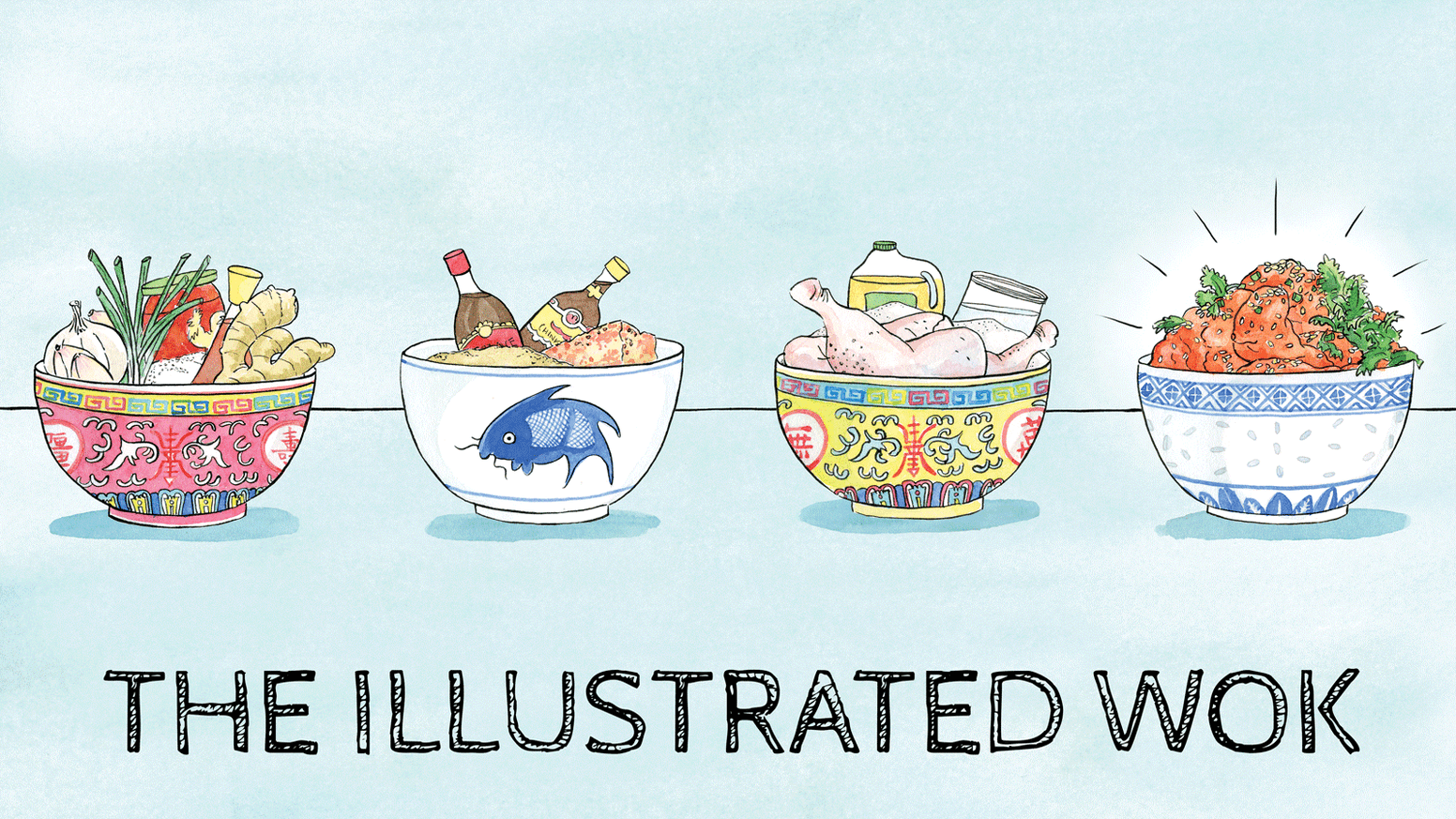 Celebrating the culinary diversity of Chinese cuisine with hand-illustrated recipes drawn from chefs around the world