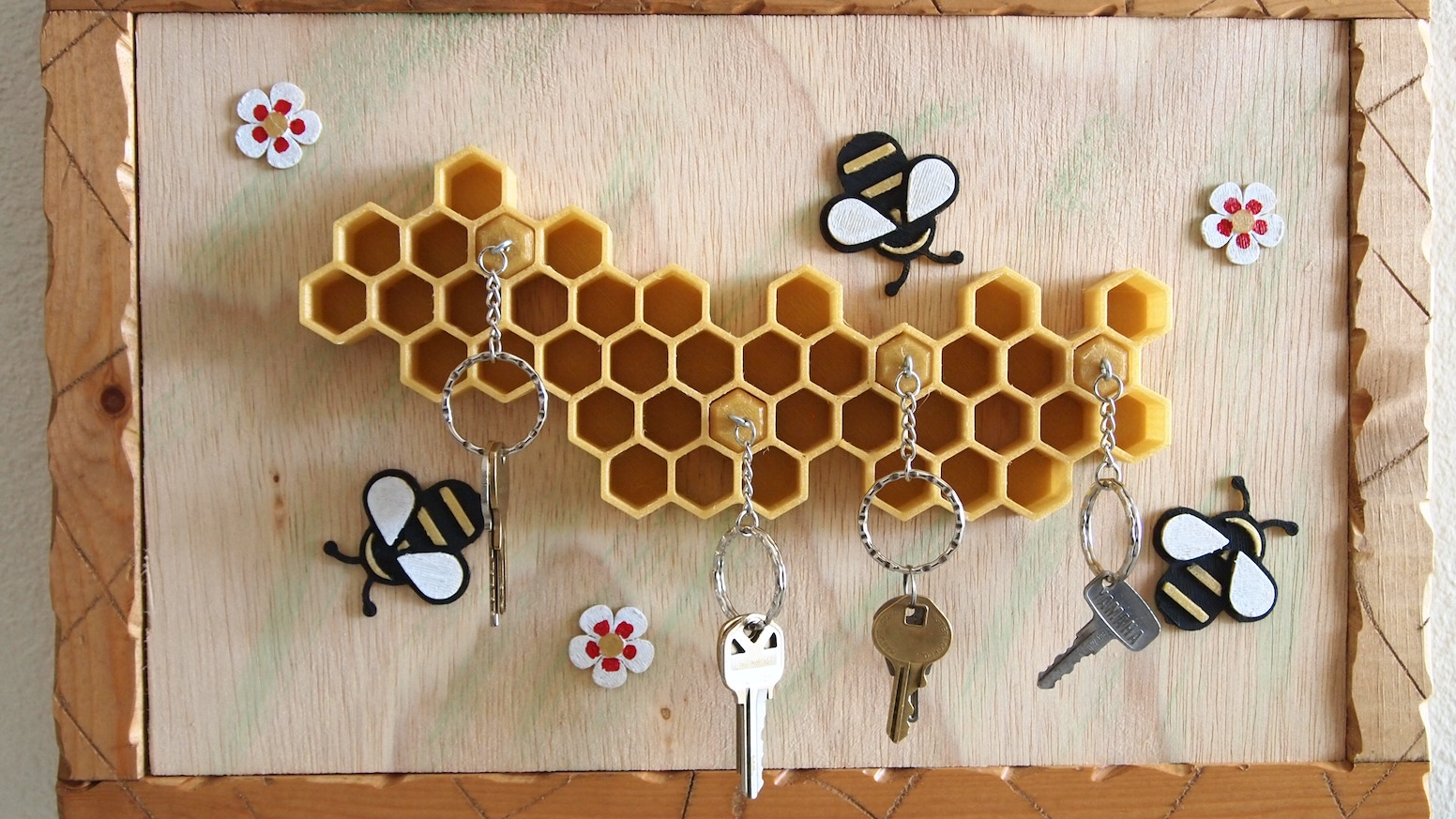 The Honeycomb Key Holder By 3d Ideas Kickstarter
