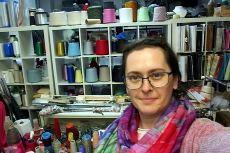 Victoria in her studio
