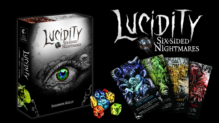 Roll dice to escape from your Nightmares, or become one and terrorise your friends! A board game for 1-4 players, with 80 custom dice!