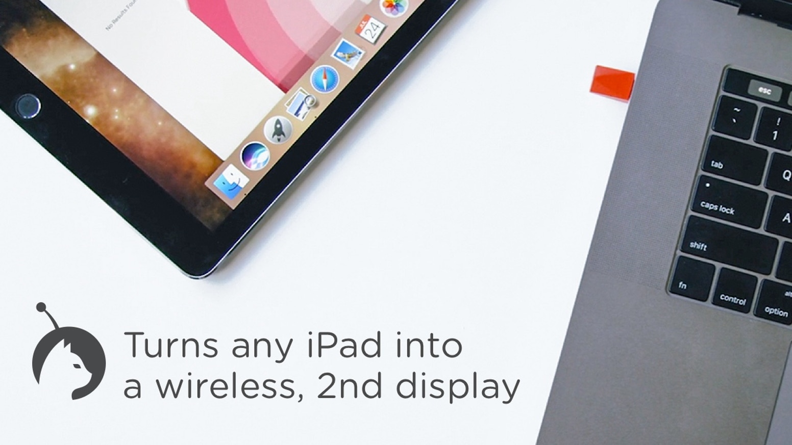 The only hardware solution that turns any iPad into a true, wireless second display.