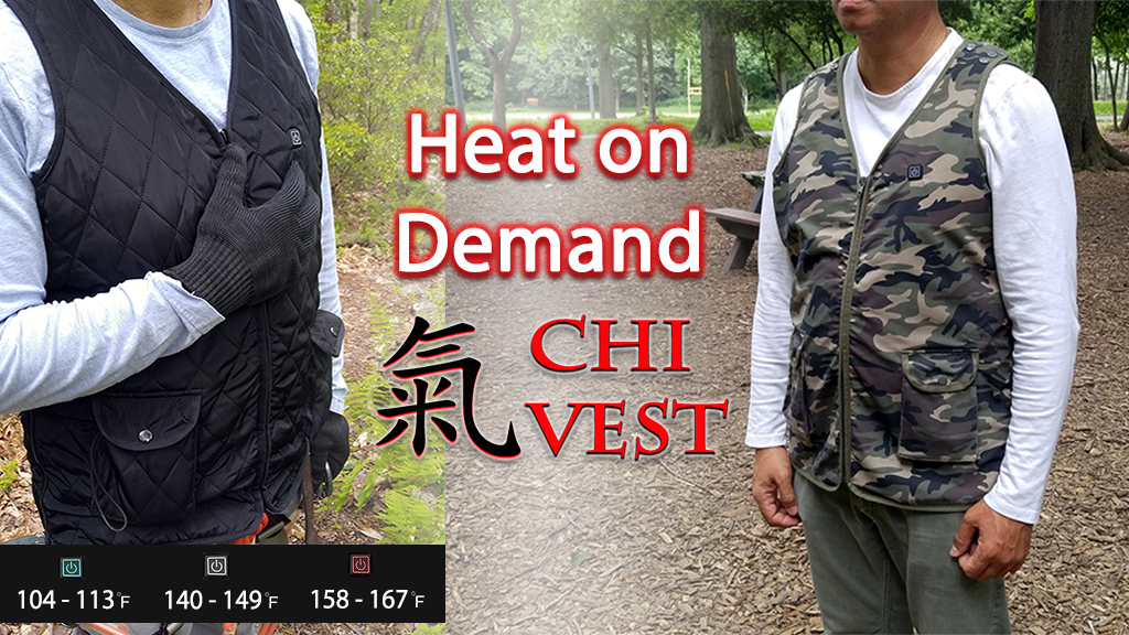 Chi Vest Adjustable Heat and Fit for Work, Leisure, Health project video thumbnail