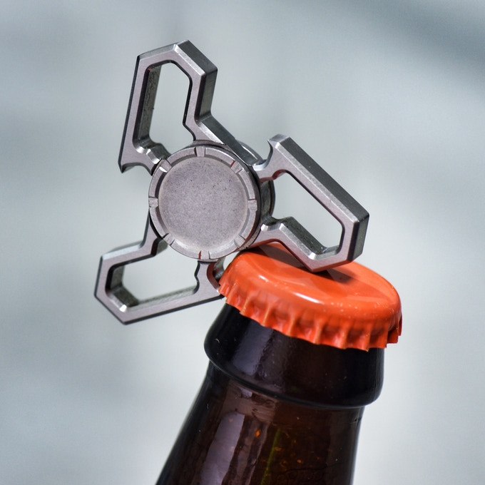 delta prime fidget spinner bottle opener by pangea designs michael dickson kickstarter. Black Bedroom Furniture Sets. Home Design Ideas