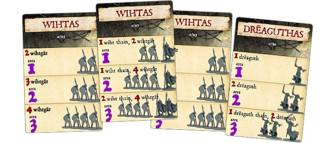 An example of the various reinforcement cards