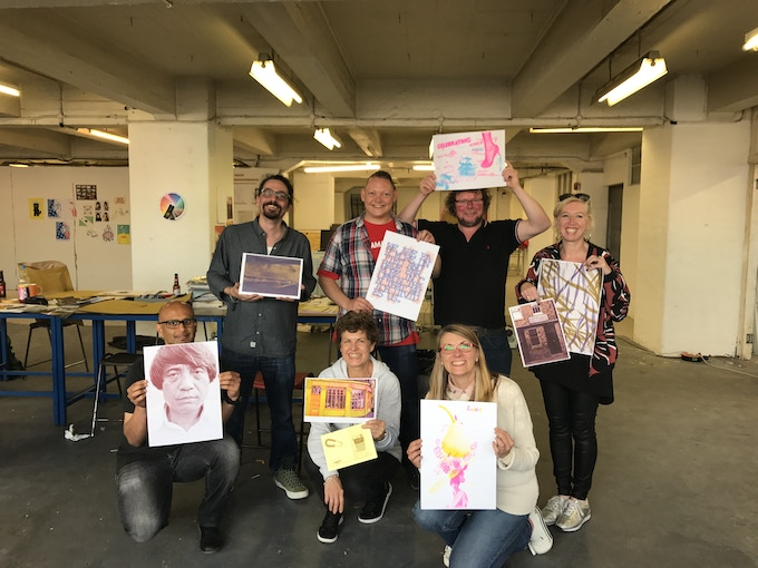 Workshops with Rope Press in risograph printing