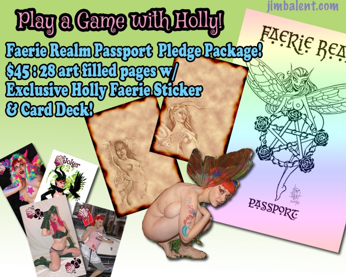 "THE ""FAERIE REALM PASSPORT"" WITH EXCLUSIVE HOLLY FAERIE STICKER PACKAGE!"