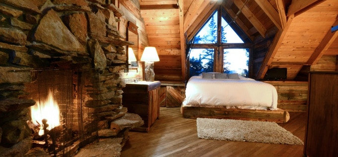 Interior Bedroom of the Cabin