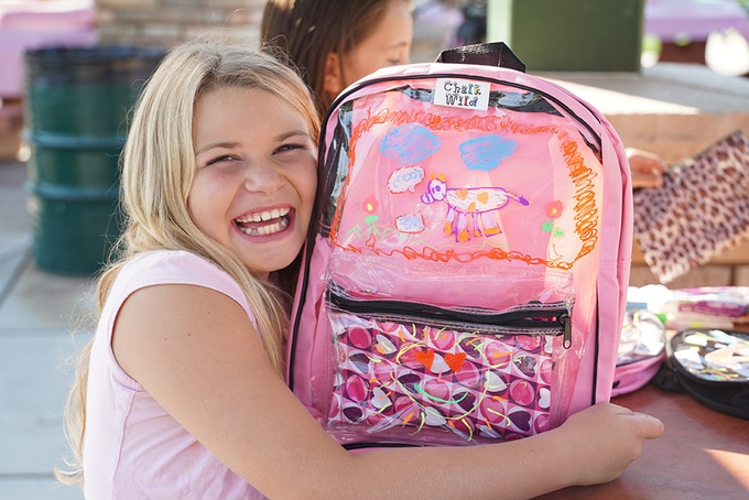 They seemed to love the idea of erasable doodling book bag