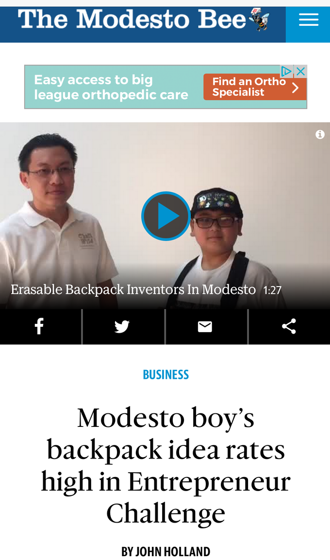 Modesto Bee did a front page article about Hien & ChalkWild