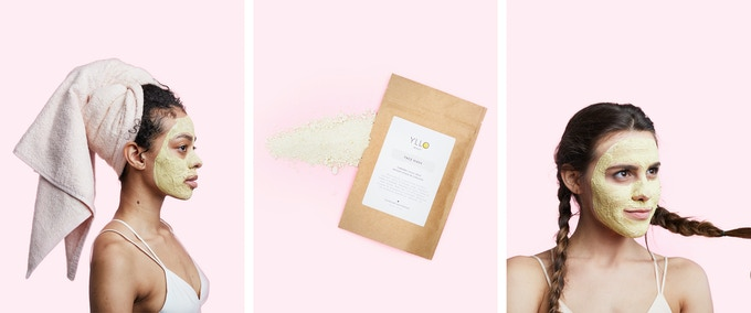 Our new soothing turmeric-based face mask