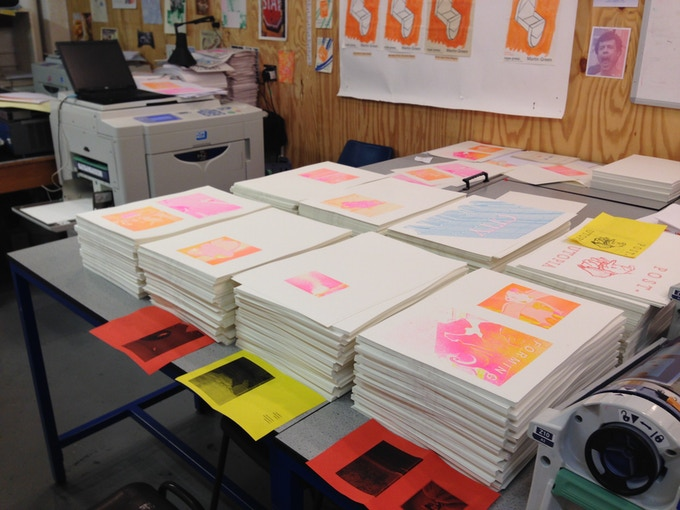 Printing Post Utopia for artist collective BERMUDA designed and published by Rope Press