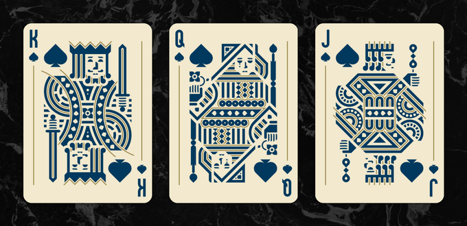 The Spade Court Cards