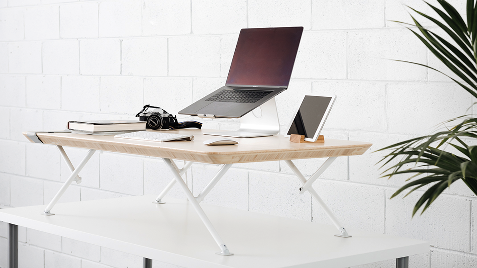MOVI is the most innovative, ergonomic, spacious standing desk add-on. Sit