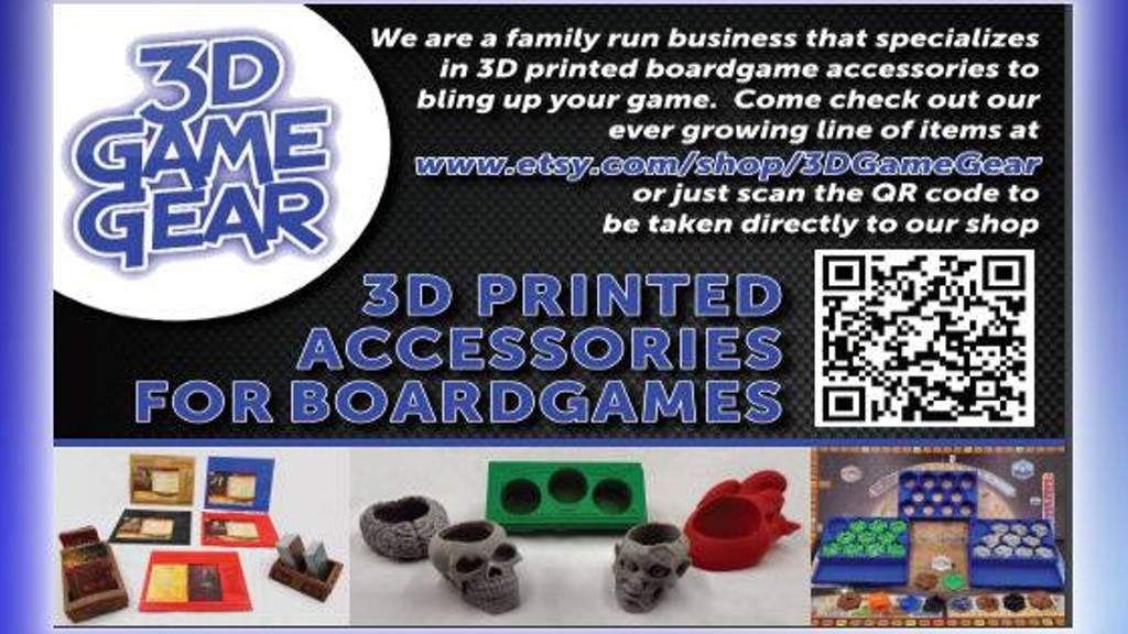Project image for Custom 3D Printed Board Game Accessories