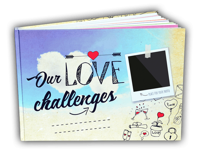 Create your own unique love story with Our Love Challenges, a book that will strengthen your relationship and bring back the excitement