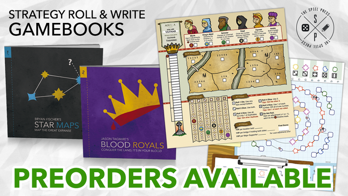 Chart the universe in Star Maps or hold the throne in Blood Royals. Strategy game books with full color, perforation, and variable play