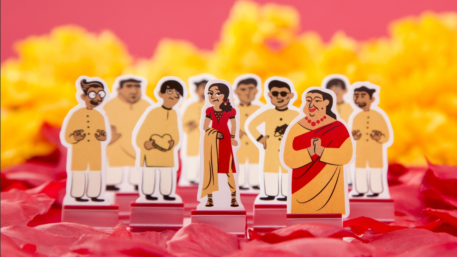 Arranged! is a board game that forces participants to confront the struggles of an Arranged Marriage