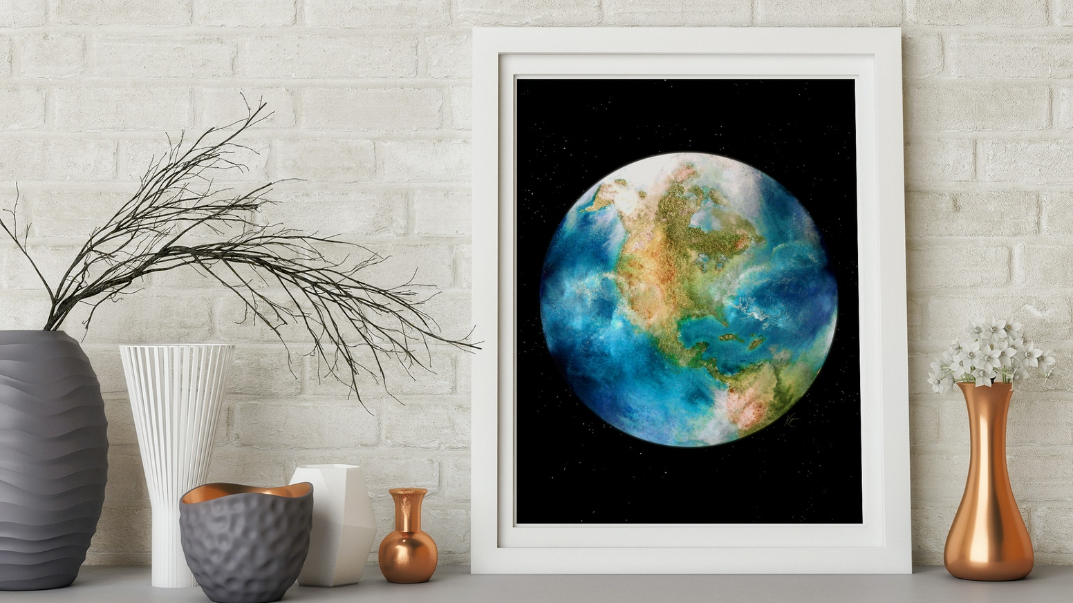 A collection of circular artwork focusing on the colors and textures on every facet of our Pale Blue Dot. Additional funds and stretch goals also brought us: Sun, Moon, Eclipse, South Pole of Jupiter, Milky Way Galaxy, and the planets.