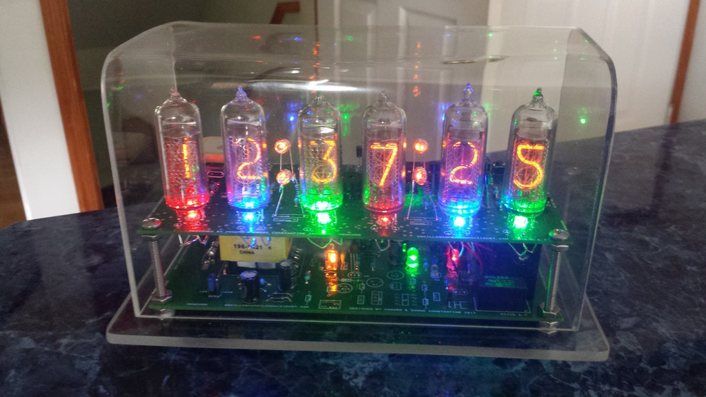 The Nixie Clock VII - GPS module 1PPS autoset time and date project video thumbnail